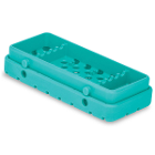Cool Cassette 2 CLEAN GREEN 5 Instrument Tray, 1/Pk. Holds instruments up