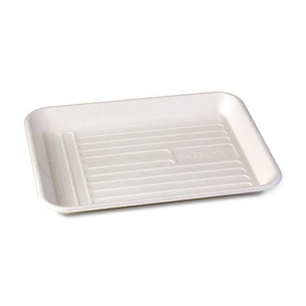 ECOsply Small Biodegradable Instrument Trays, 250/Box  FDA-approved  food-grade