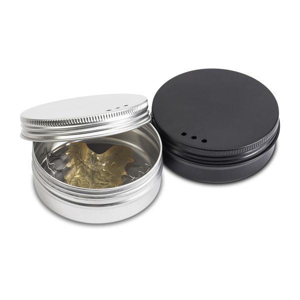 Practicon SmileGoods Metal Retainer SafeCase, 24/Pk (12 Black, 12 Silver)
