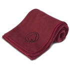 "Practicon Molar Logo Fleece Blanket 50"" x 60"", Burgundy. 1/Pk. Features"