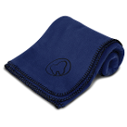 "Practicon Molar Logo Fleece Blanket 50"" x 60"", Navy. 1/Pk. Features stylized"