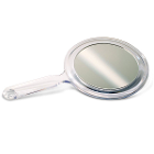 "Practicon Acrylic Hand Mirror 5"", Two-Sided 1/Pk. 3X Magnifying and Plain glass"