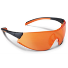 Practicon 546 Orange Curing Safety Glasses feature a wraparound design