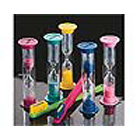 "Practicon Brushing Sand Timers, approximate three minute count, 3 1/2"" tall"
