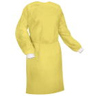 Practicon PP Isolation Gowns, Yellow with Elastic Cuffs and Back Tie, 10/Pk