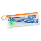 "SmileGoods Adult Patient Paks in a handy 4"" x 10"" clear vinyl zipper bag"