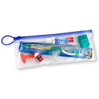 "SmileGoods Deluxe Adult Patient Pak in a handy 4"" x 10"" clear vinyl zipper bag"