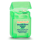 SmileGoods Mint Waxed Dental Floss coordinates toothbrushes and maximizes your