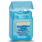 SmileGoods Waxed Dental Floss, coordinates toothbrushes and maximizes your