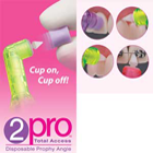 2pro Total Access Prophy Angle with Soft/Short Purple Cup. Features a patented
