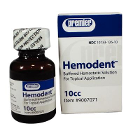 Hemodent 10 cc Liquid, Buffered Aluminum Chloride without Epinephrine, 10 cc Bottle. #9007071