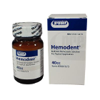 Hemodent 40 cc Liquid, Buffered Aluminum Chloride without Epinephrine, 40 cc Bottle. #9007073