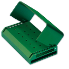 Two Striper 18 Hole - 18 FG - Green Anodized Aluminum Bur Block. Fully