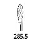 Two Striper FG #285.5 football shaped coarse diamond contouring bur, pack of 5