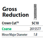 Two Striper FG #SC10 Gross Reduction Coarse Diamond Bur, Crown Cut. Pack of 5