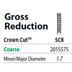 Two Striper FG #SC8 Gross Reduction Coarse Diamond Bur, Crown Cut. Pack of 5