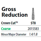 Two Striper FG #ST8 Gross Reduction Coarse Diamond Bur, Crown Cut. Pack of 5