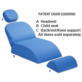 Premium Plus Patient Chair Headrest Cushion, Blue