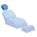 Premium Plus Patient Chair Headrest Cushion, Blue, Universal fitting. Soft
