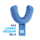 Premium Plus #4 Medium Lower Full-Arch Perforated Plastic disposable impression