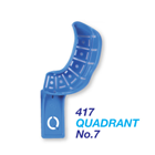 Premium Plus #7 Quadrant Upper Left/Lower Right Perforated disposable