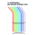 Premium Plus Disposable Air-Water Coreless Syringe Tips, Assorted Opaque Colors