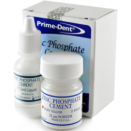 Prime-Dent Zinc Phosphate Cement, a very high str