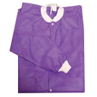 Primo Lab Coats - Purple Large 10/Pk. Knee-Length, Light-Weight, Breathable