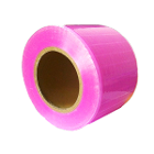 "Primo 4"" x 6"" Barrier Film, Pink. Roll of 1200 Sheets. Non-stick edges"