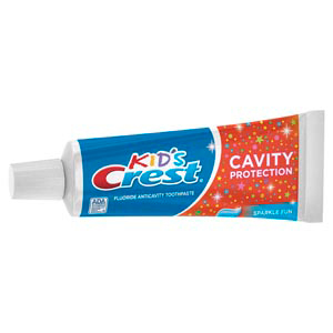 Crest Kid's Sparkle Toothpaste, Unboxed Professional Trial Size. Case of 72 x