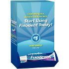 Fixodent Denture Adhesive Dumpbin Sample Package - 0.35oz, 50/Pk. Offers