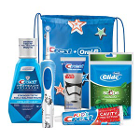 Oral-B Kids 6+ Electric System includes: Electric Toothbrush with (2) Sensitive