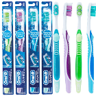 Oral-B 3D White Vivid Toothbrush, 35 soft tufts with polishing cups, 4 assorted