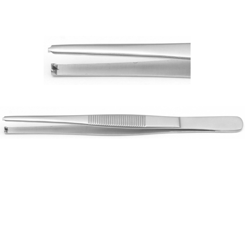 "ProDent USA 5"" Tissue Forceps, 1 x 2 teeth"