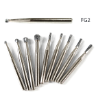 AccuCut FG #2 round carbide bur, 100/pk. Premium European quality carbide burs