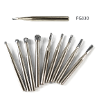 AccuCut FG #330 pear shaped carbide bur, 100/pk. Premium European quality