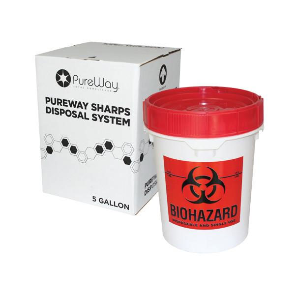 PureWay Sharps Disposal System 5 gallon container