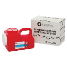 PureWay Sharps Disposal System - Single. 1.2 gallon container, shipping box &