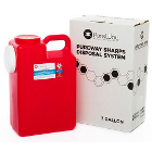 PureWay Sharps Disposal System - Single. 3 gallon container, shipping box &