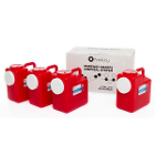 PureWay Sharps Disposal System - Multipack. 4 - 2 gallon containers, Pre-paid