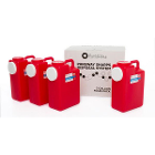 PureWay Sharps Disposal System - Multipack. 4 - 3 gallon containers, Pre-paid