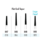 Quala FG #848 023 Flat End Taper Single Use Diamond, Coarse Grit, pack of 25