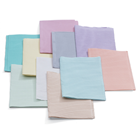 "Quala Peach Patient Bibs plain rectangle (13"" x 18""), 3 Ply Tissue/1 Ply Poly"