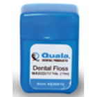 Quala Dental Floss, Nylon Waxed plain, Shred resistant, Patient-sized 12 yards