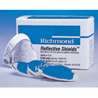 Reflective Shields small cotton roll substitute with reflective backing, box of 50 cotton roll