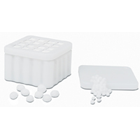 Temple White Plastic Dispenser, Holds 4 Cotton Pellet Refills, with #1, #2, #3 and #4 size Cotton