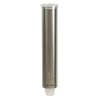 San Jamar Stainless Steel Cup Dispenser with brushed steel finish. Holds 100 3 to 5 oz. flat