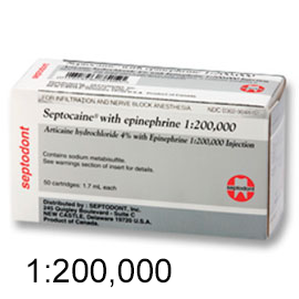 Septocaine Articaine HCl 4% with Epinephrine 1:20