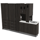 Signature Series Center Island Unit. Custom made, 7 drawers, glove dispenser