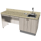"Signature Series Doctor's Cabinet with Sink 72""W x 20""D x 37""H. 100% plywood"